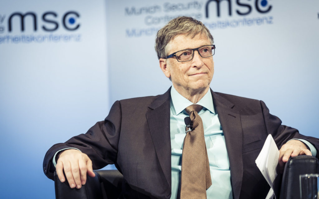 Bill Gates at Charity Forum
