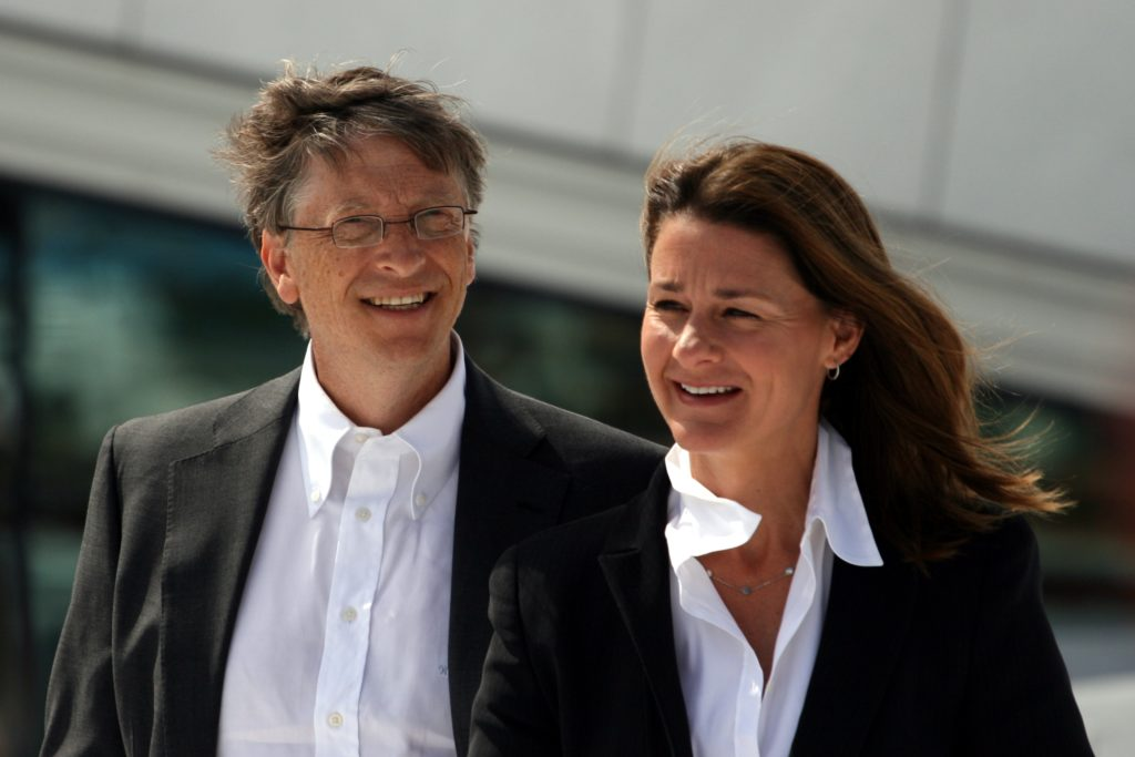 Bill Gates and Melinda Gates during their visit to the Oslo Opera House