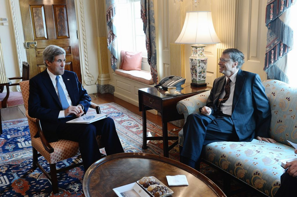 US Secretary Kerry Meets With Bill Gates Leader