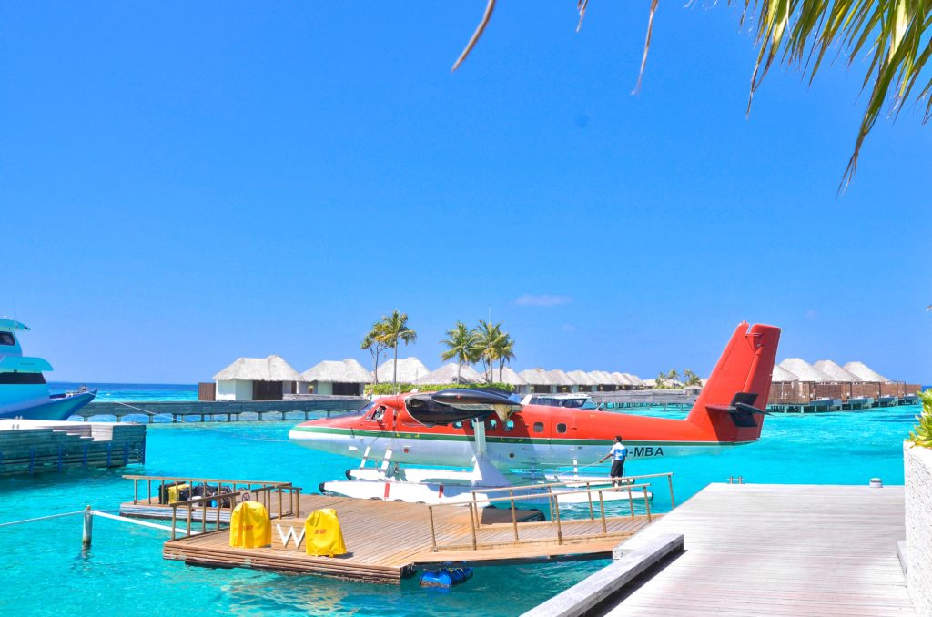 Private Seaplane at Island by Ferofly